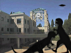 SSU clocktower with UFO and monsters