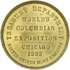 Commemorative Coin, 1893 World Expo